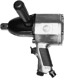 "Taylor Pneumatic T-7794 1"" Heavy Duty Impact Wrench with side handle"