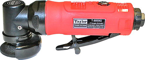 "Taylor Pneumatic T-8859G .45 HP 2"" Angle Grinder"